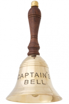 Tischglocke, 16cm, Captains Bell