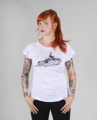 Hafendieb Schlepper Frauen T-Shirt white