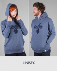 Hafendieb Logo Unisex Hoody dark heather blue