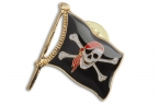 Pin Piratenflagge, rot