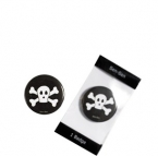 Piraten Totenkopf Button
