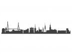 Wandsticker Hamburg-Skyline