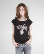 Hafendieb Girls-Shirt - Logo, schwarz
