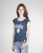 Hafendieb Girls-Shirt - Logo, denim