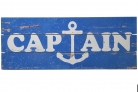 Holzschild Captain